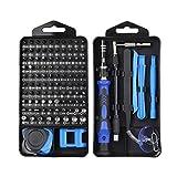WGH Mini Präzisionsschraubendreher-Set, 115-teiliges Schraubendreher-Set Werkzeugsatz zur Reparatur von Magnetdateien für Elektronik, Möbel, Modell, Heimwerker, iPhone, Laptop