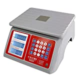 Electronic Price Computing Scale 66lb/30kg Waterproof, Digital Commercial Food Meat Weighting Scale LCD with White Backlight, Rechargeable Battery Included, Not For Trade