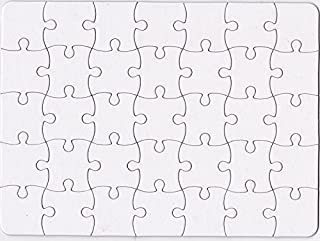 Nextnol 35 PCS Blank Puzzle,White DIY Puzzle,Custom Jigsaw Puzzle,Blank Jigsaw Puzzle,Size:8.5 inch and 11 inch.
