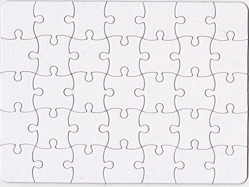 Nextnol 35 PCS Blank Puzzle,White DIY Puzzle,Custom Jigsaw Puzzle,Blank Jigsaw Puzzle,Size:8.5 inch and 11 inch.