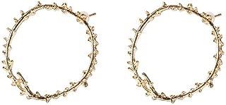 2 Unids/set Pendientes Clásicos Femeninos Rama Redonda Pendientes de Oro Set Lady Valentines Day Jewelry Gift Accessories