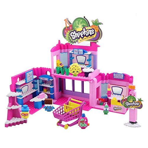 Shopkins Kinstructions Deluxe Shopville Mall - Exclusive Shopkins, 410 pcs