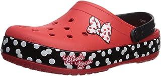 Crocs Unisex-Adult 205654-8C1 Crocband Minnie Dots Clog Red Size: