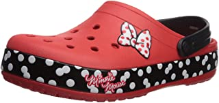 Crocs Unisex-Adult 205654-8C1 Crocband Minnie Dots Clog Red Size: