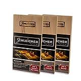 ACTIVA Schleicher Premium Zeder Buche Kirsche Räucherbretter 30x14x2cm - 3 Stück gemixt - XXXL 2cm extra dick – mehrfach wiederverwendbar & langlebig - Grillbretter aus 100% Zeder & Buche & Kirsche