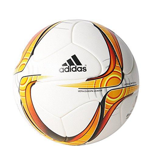 adidas Herren Ball Europa League Offizieller Spielball, White/Solar Gold/Solar Red/Black, 5, S90267