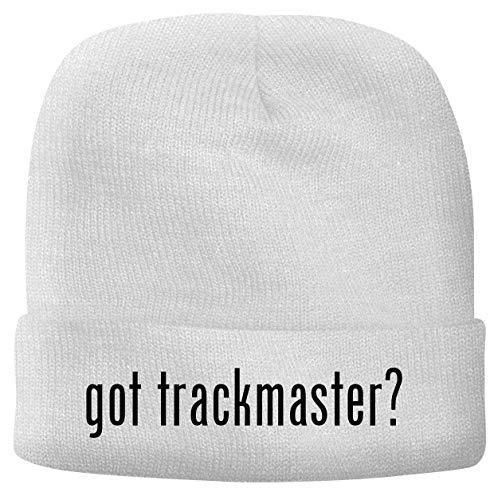 BH Cool Designs got Trackmaster? - Men's Soft & Comfortable Beanie Hat Cap, White, One Size