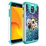 Galaxy j3 2018/J3 Achieve/Express Prime 3/j3 Star/J3 V 3rd Gen 2018/j3 Orbit case,Skyfree Heavy Duty Dual Layer Bumper Protective Phone Case for Samsung Galaxy J3 2018,Cute Puppy Dog