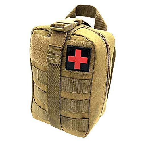 Wolike Sac de Premiers Secours Tactique Vide EMT Kit de Survie d'urgence de Voyage en Plein air Molle Rip-Away EMT pour Sac de Taille multiusage médical Kit Utilitaire Militaire, Kaki