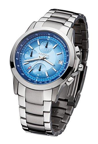 FIREFOX Shooter FFS07-103c blau Chronograph Herrenuhr Armbanduhr Sicherheitsschließe 10 ATM wasserdicht