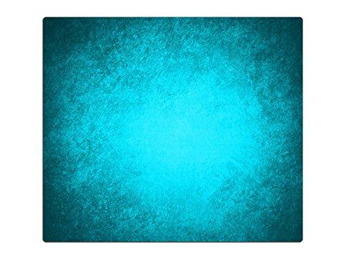 Herdabdeckplatte Schneidebrett Spritzschutz aus Glas HA632394203 Abstrakt Türkis Variante 1x Scheibe (1 Panel) für Küche, Grill-Profis & Dinner