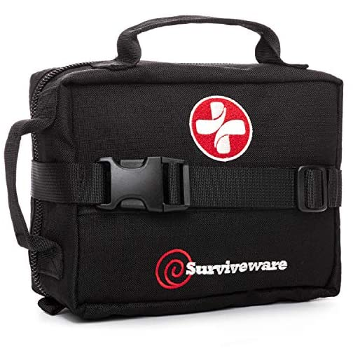 Surviveware Survival First Aid Kit for Outdoor Preparedness - Comes with Removable MOLLE Compatible System and Labeled… 3