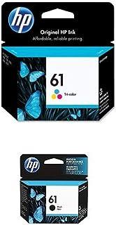 HP 61 | Ink Cartridge Bundle | Black, Tri-color | CH561WN, CH562WN