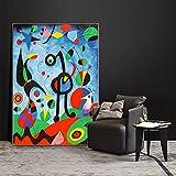Pintura decorativa El jardín 1925 por Joan Miro pinturas en lienzo carteles e impresiones artísticos de pared Joan Miro cuadros de lienzo de arte famoso para sala de estar 50x80cm