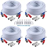 SANNCE 4 Packed High Quality 100FT 30 M BNC Video...