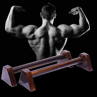 Wangyueeyfwczj Push Up Bars Wooden Push-Ups Home Fitness Equipment Training Aerobics Fitness Non-Slip Parallel Inverted Fi...