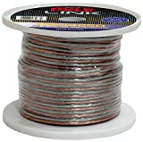 250ft 14 Gauge Speaker Wire - Copper Cable in Spool for Connecting Audio Stereo to Amplifier,...