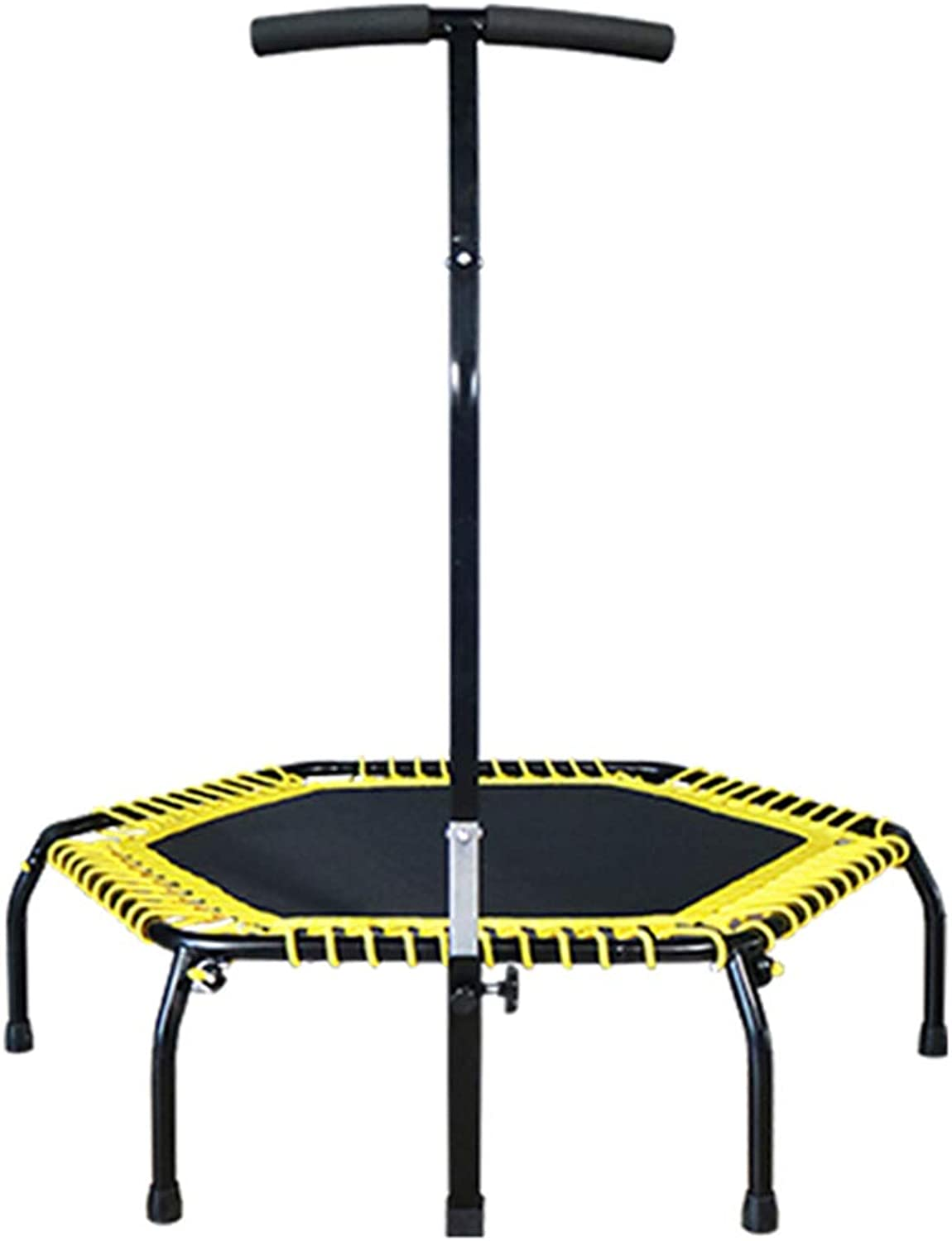 Trampoline Body Sculpture Aerobic Bouncer Fitness Mini Hexagon Bungee Bed with Adjustable Handle Bouncing Weight Loss Device for Outdoor and Indoor Use