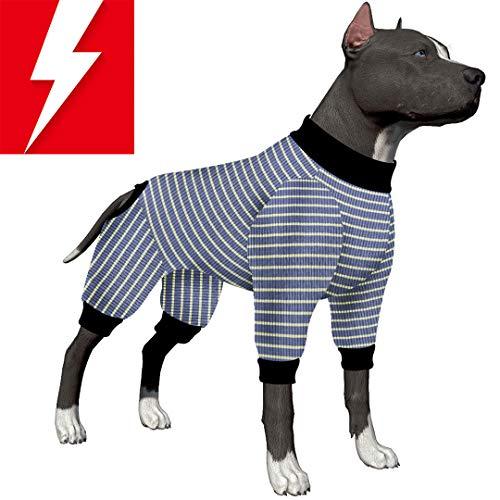 LovinPet Hunde-Pyjama/Hundehemd / 4-beiniges Design, für große Hunde, mit Pitbull Shirt/Bulldoggen-Pyjama/Boxer-Pyjama, Large