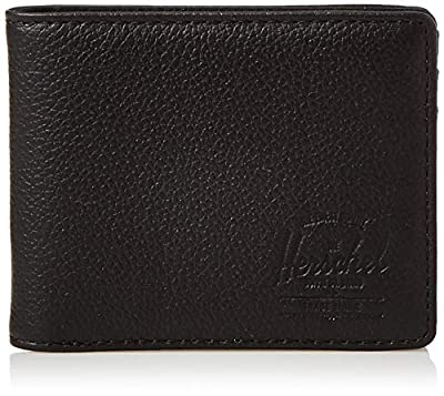 Herschel Hank RFID, black Pebbled leather