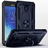 SUSAA Galaxy J3 Star/J3 2018/J3 Orbit/J3 Achieve/J3 Aura Case, 360 Degree Metal Ring Holder Kickstand Phone Case Cover for Samsung J3 2018 Navy Blue