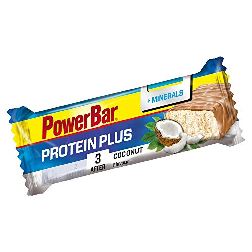 Power Bar Protein Plus - Barrita proteica con minerales, 35gr