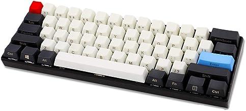 HONGB 60% De Teclado Mecánico Pbt Key Cap, 61 Teclas, Cherry MX Cross Shaft Universal, OEM Key Key Cap (Incluyendo Extractor De Teclas, Solo Tapa De Teclas)-Grabado Lateral