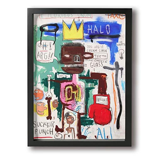 PKLUAS Jean-Michel Basquiat Wall Art Paintings Prints On Canvas None Frame for Living Room Bedroom Bathroom 12x16Inch Einheitsgröße schwarz