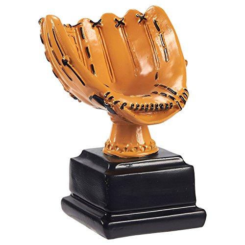 Juvale Baseball-Trophäe Baseballhandschuh - Aus Robustem Harz - Ideal für Sportturniere, Wettbewerbe, Partys - Für Kinder und Erwachsene - Braun, 14,6 x 11,4 x 10,2 cm