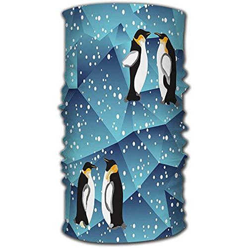 MJDIY 16-In-1 Sweatbands, Blauw Kristal Ijs Achtergrond Textuur Met Pinguïn Sjaal Hoofdband Mode Hoofd Wrap Voor Mountain Running Paard Rijden