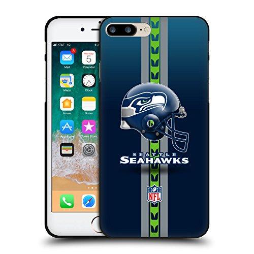 Head Case Designs Licenciado Oficialmente NFL Casco Logotipo de Seattle Seahawks Funda de Gel Negro Compatible con Apple iPhone 7 Plus/iPhone 8 Plus