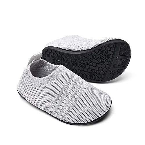Sosenfer Kinder Hausschuhe Jungen mädchen Anti-Rutsch Sohle Kleinkinder Schuhe Baby Slipper Unisex-HUIQIAN-23