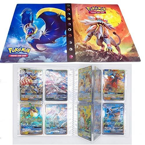 SunAurora Tarjetero Pokémon, Pokemon Album Cartas,30 páginas - Puede Contener hasta 240 Tarjetas (Solgaleo)