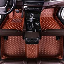 Muchkey car Floor Mats fit for Hummer H3 2008 Custom fit Luxury Leather All Weather Protection Floor Liners Full car Floor Mats