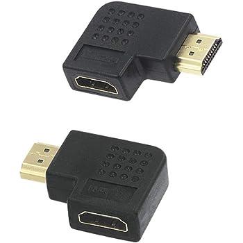 3x HDMI Winkel Adapter Links 90 Grad Flach gewinkelt 4K UHD 2160p Winkelstecker