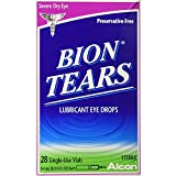 Bion Tears Lubricant Eye Drops Single Use Vials - 28 ct, Pack of 4
