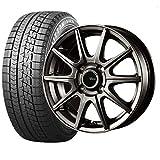 2019年製以降 メーカー国内正規品 ブリヂストン (タイヤ)ブリザック VRX 155/65R14 (ホイール)V-EMOTION GS10 14×4.5J PCD100/4H +45 ガンメタ (軽自動車用) 14インチ スタッドレスタイヤホイールセット 4本