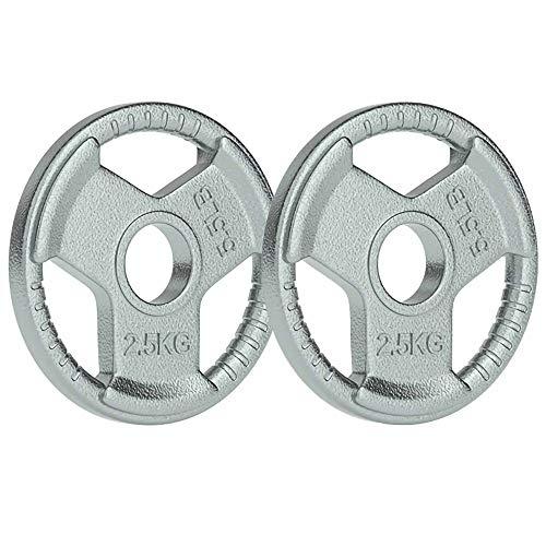 Discos de Pesas de Hierro Fundido,Discos de Peso DiáMetro Del Orificio de 5 cm DiseñO de Agarre Manual,para Equipos de Fitness Mancuernas de Gimnasio en Casa/A / 2x2.5KG