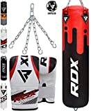 RDX Punching Bag UNFILLED Set Kick Boxing Heavy MMA Training with...