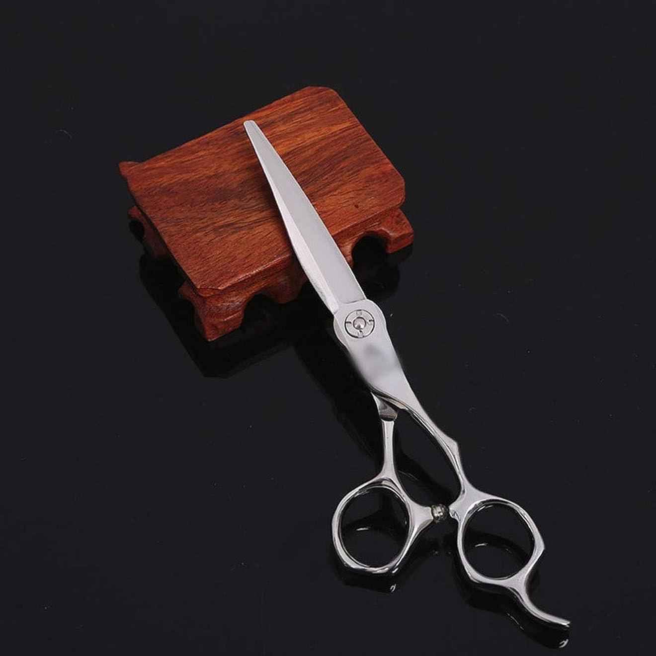 Keriya Sende 6インチの美容院の専門のヘアカットの平らなせん断のはさみの毛の切断 (色 : Silver)
