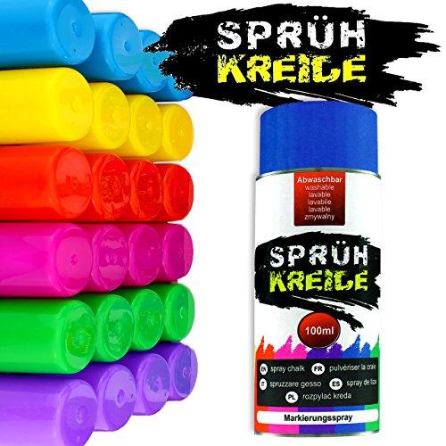 3 esprays de tiza, spray de tiza para marcar, lata lavable