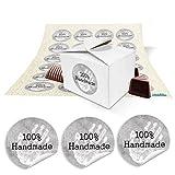 24 kleine weiße Geschenkboxen Schachteln, Boxen für kleine selbstgemachte Sachen 8 x 6,5 x 5,5 +...