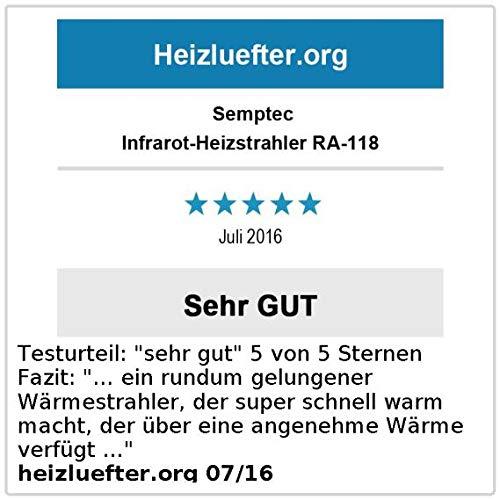 Semptec Dunkelstrahler: Profi-Infrarot-Heizstrahler RA-118, Fernbed, 1.800 W, IP55 (Dunkelheizstrahler) - 8