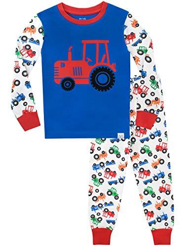 Harry Bear Jungen Schlafanzug Große Radtraktoren Slim Fit Mehrfarbig 92