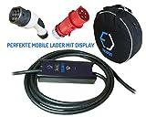 evse–Smart portátil cargador tipo 2–CEE de 5pines Plug (Mennekes) | 32A 1phase, 5m, 7,4kW