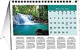 Calendar Company 2021 Scenic America Desktop Tent Calendar, Flip 12 Months, 8.5'x6' MADE IN THE USA