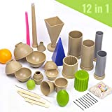 Candle Shop - Candle Molds set (12 candle molds) - 120 ft. of wick included as a gift - Plastic candle molds...