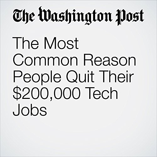 The Most Common Reason People Quit Their $200,000 Tech Jobs copertina