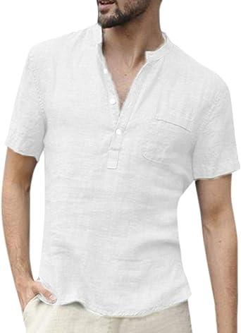 ORANDESIGNE Camisa Hombre Blusa Suelta Casual Transpirable ...