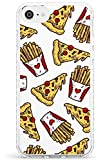 Patterns Fast Food Pizza & Fries Impact Cover per iPhone 6 TPU Protettivo Phone Leggero con Fast Food Modello Porta Via Patatine Fritte Patatine